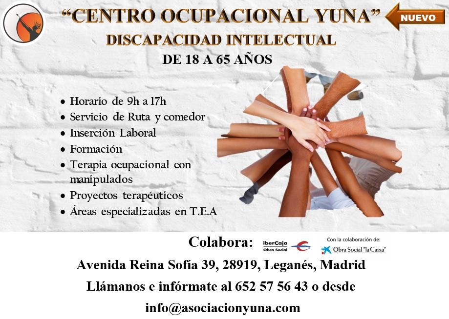 NUEVA APERTURA DE CENTRO OCUPACIONAL PARA PERSONAS CON DISCAPACIDAD INTELECTUAL EN LEGANÉS