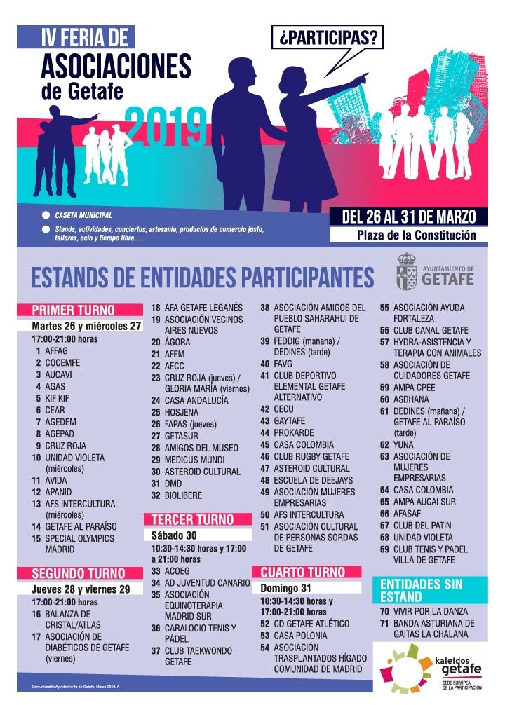 IV FERIA DE ASOCIACIONES DE GETAFE 2019